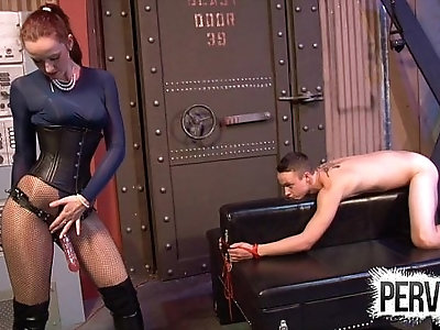 Vivienne l amour broke his ass cfnm pegging anal