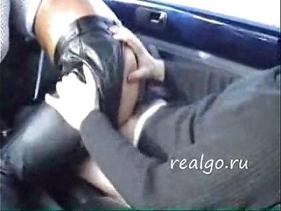 A bitch fuck in a car