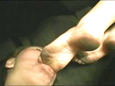 Dirty Foot Worship In Car