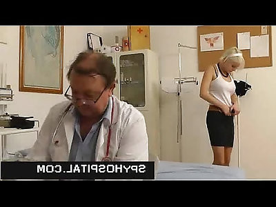 Cute girl gets her pussy caught on doctor hidden cam