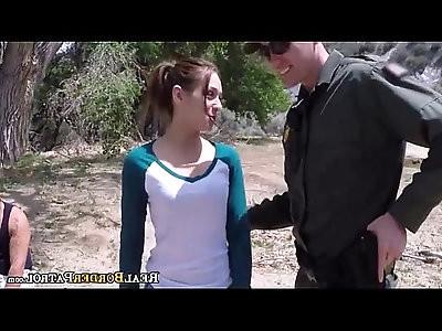 Border Patrol Fucked This Illegal Hispanic Girl