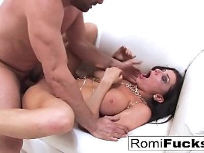 Gonzo sex with porn starlet Romi Rain and Euro star Toni Ribas
