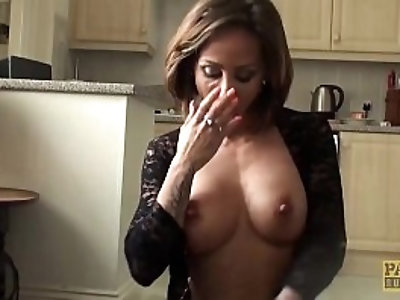 Roughly dicked UK wench receives a big facial from master