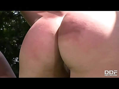 Extra Tall Dominatrix punishes her lesbian Slave like never before!