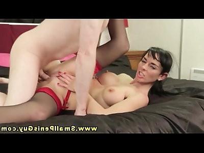 Sexy FEMDOM babe makes fun at tiny dick dudes