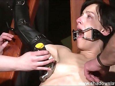 Tied Elise Graves pussy punished and hardcore bdsm of enslaved fetish pornstar t