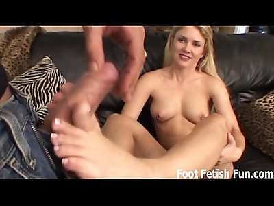 Let me give you a footjob with my perfect feet