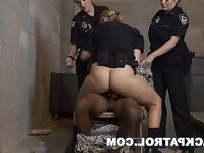 BLACKPATROL Fake Soldier Gets Used as a Fuck Toy by Police