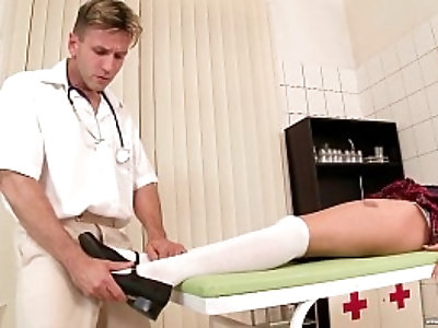 Playing with my doctors cock Lucy Heart