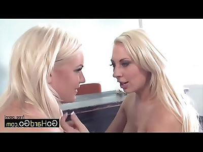 Two bimbos in high heels Bella Rose