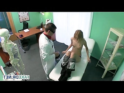 Blonde euro babe gets fucked in fake hospital