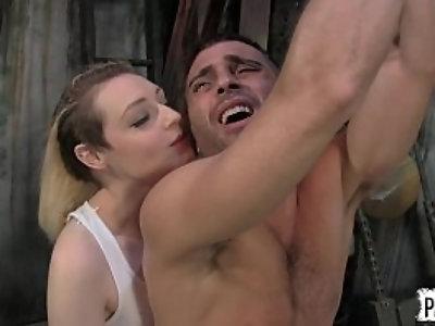 Captured by tank girl arielle aquinas lance hart cosplay femdom cbt sex