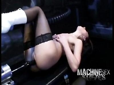 German police machine fucked