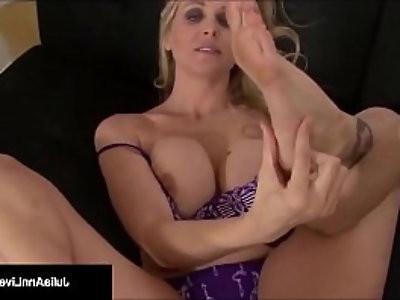 Busty Blonde amateur Milf Julia Ann Kneels POV To Suck Your big Cock!
