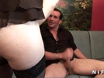 Amateur french brunette fucked hard double penetrated