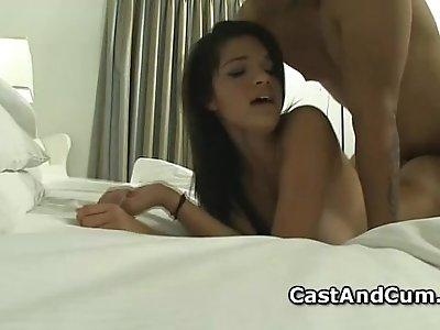 Sweet ass Carrie cunt fucked hard from her back