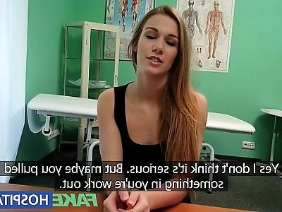 FakeHospital Hot gymnast seduced by doctor and given creampie