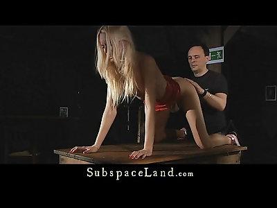 Erica Fontes restrained in bondage