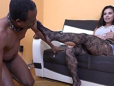 Mistress mira foot slave training