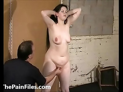 Cruel female humiliation and rough domination of bbw bdsm slave Emma in degradin