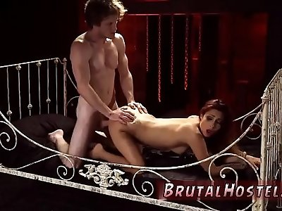 Brutal mixed wrestling first time starts screwing her tiny honeypot