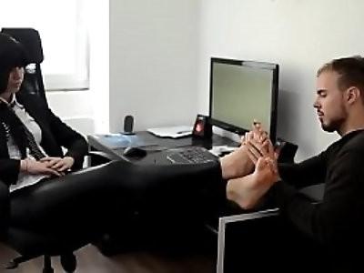 Boss Feet Worship Barefoot