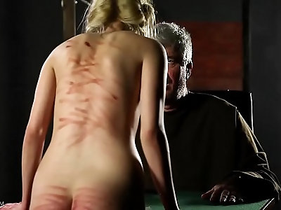 The Girl Love Skinny blonde whore gets in trouble