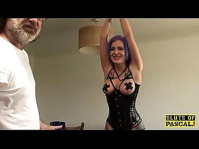 Euro BDSM sub analfucked as punishment