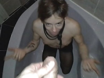 Pissing and cuming on my wife