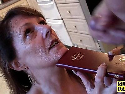 Bible bashing sub slut doggystyled
