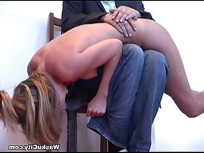 British Girl spanking crying